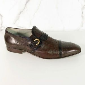 Cesare Paciotti Perfoated Leather Loafers